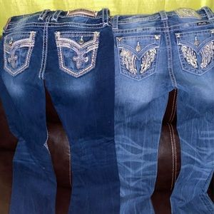 Rock revival and miss me jeans